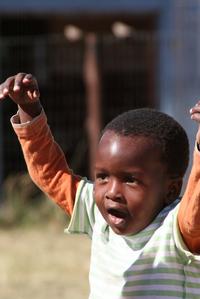 Glade barn i Zulufadder